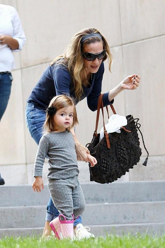 Herečka se svou roztomilou dcerou Tabithou.