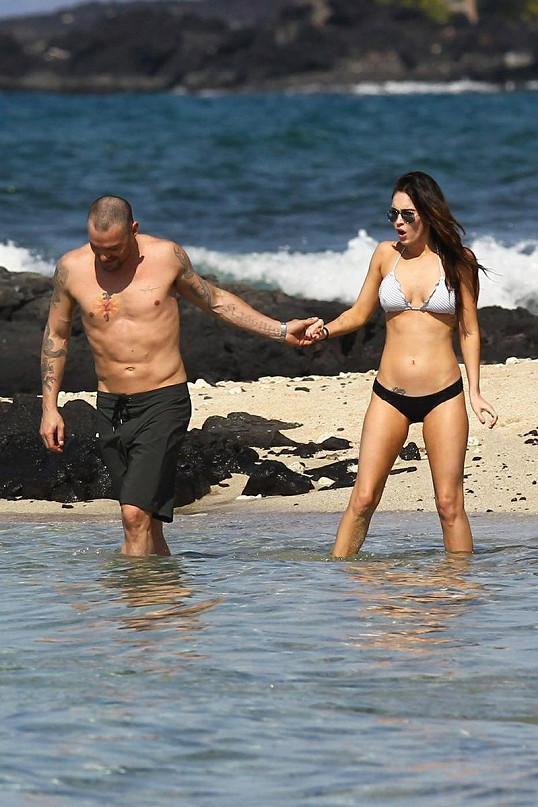 Megan Fox s manželem Brianem Austinem Greenem.