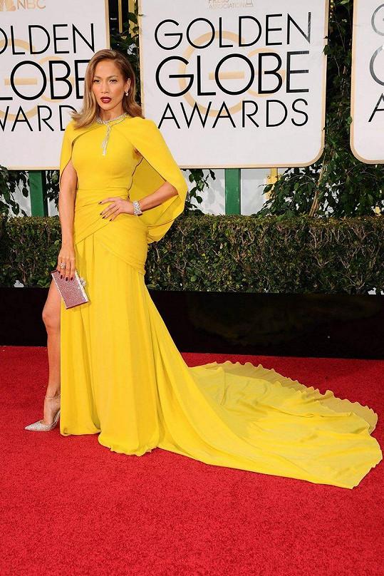 Jennifer Lopez na nedávném udílení Zlatých glóbů.