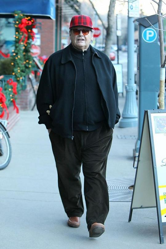 Hollywoodský elegán Nicholson v Aspenu.