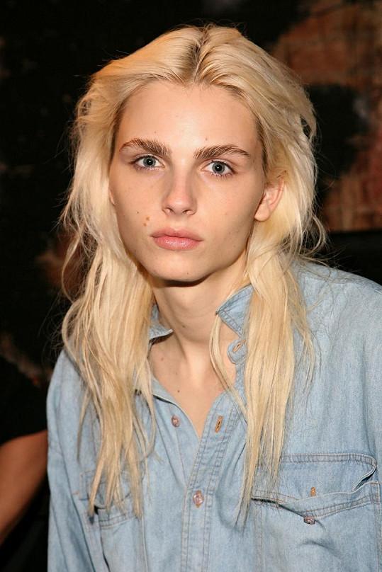 Dlouhé blond vlasy, ženské rysy a velké oči. To je Andrej Pejic.