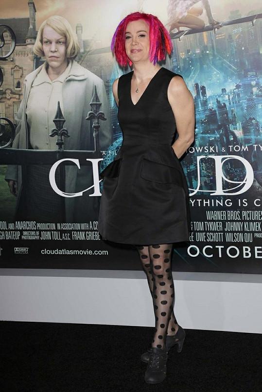 Lana na premiéře jejího nového filmu Atlas mraků.
