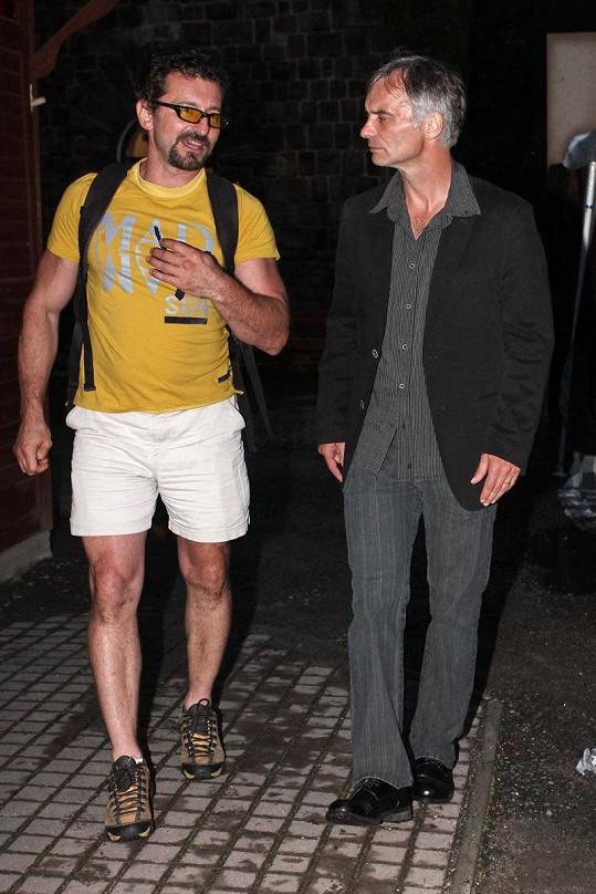 Ondřej Vetchý s Ivanem Trojanem, který oblečení nepodcenil.
