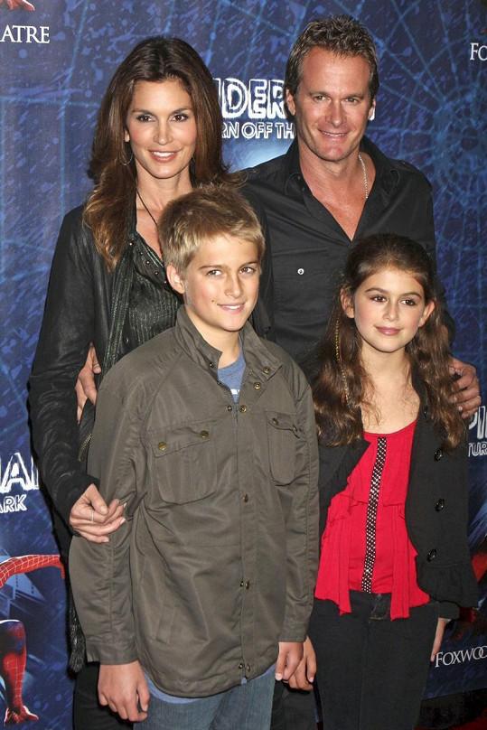 Cindy Crawford s rodinou.