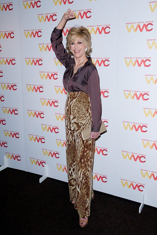 Jane Fonda na Women's Media Awards v New Yorku.