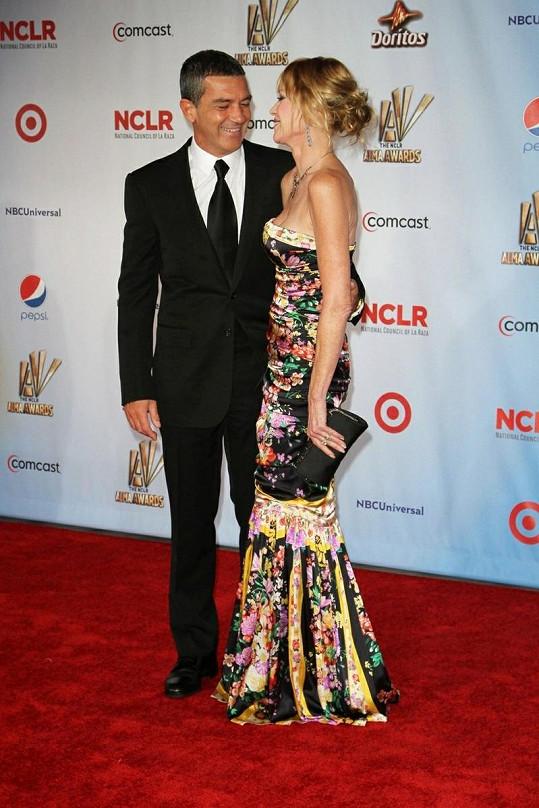 Melanie a Antonio na NCLR ALMA Awards.