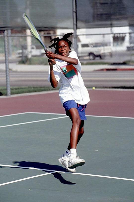 Venus Williams v jedenácti letech.