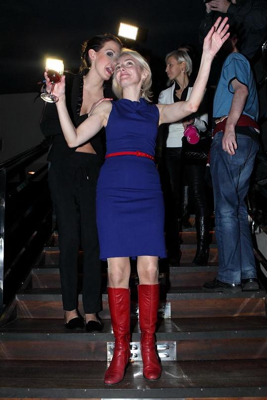Veronika s dcerou Agátou, která párty pořádala.