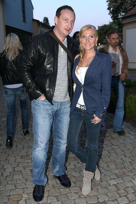 Michaela s přítelem Michalem Exnerem.