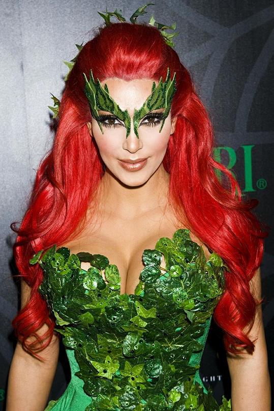 Kim Kardashian jako Poison Ivy.