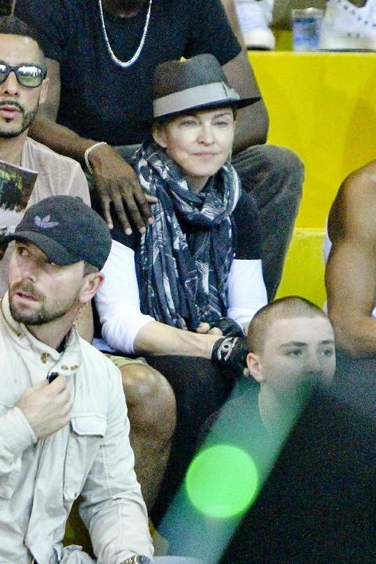 Madonna v hledišti.