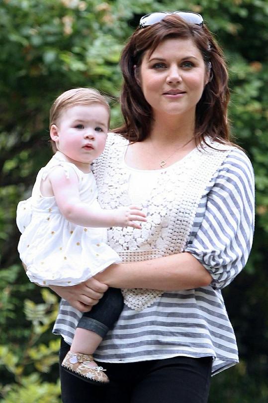 Herečka se svou roztomilou dcerkou Harper.