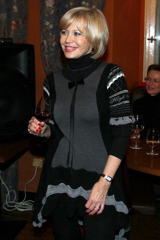 Jana Švandová vypadala již tradičně výborně.