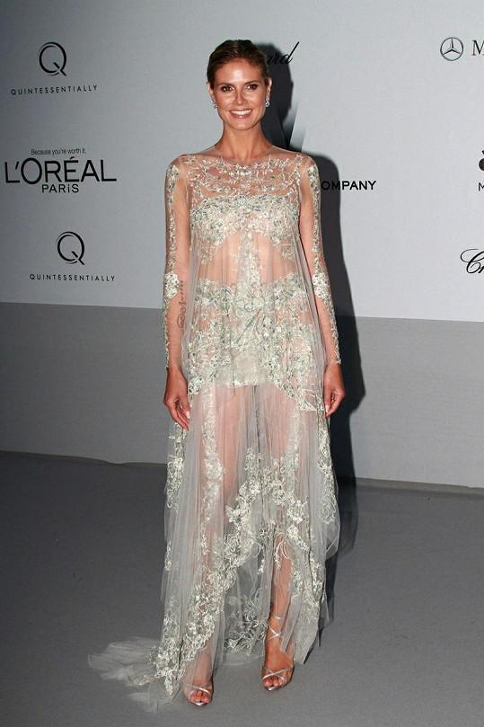 Heidi Klum září v Cannes.
