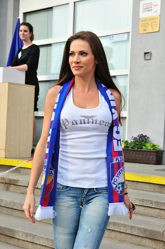 Andrea Verešová vypadala úchvatně.