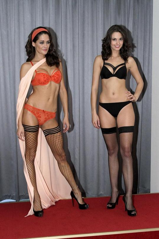 Faltýnová zářila na přehlídce v nově otevřeném obchodu se spodním prádlem v Domě módy.