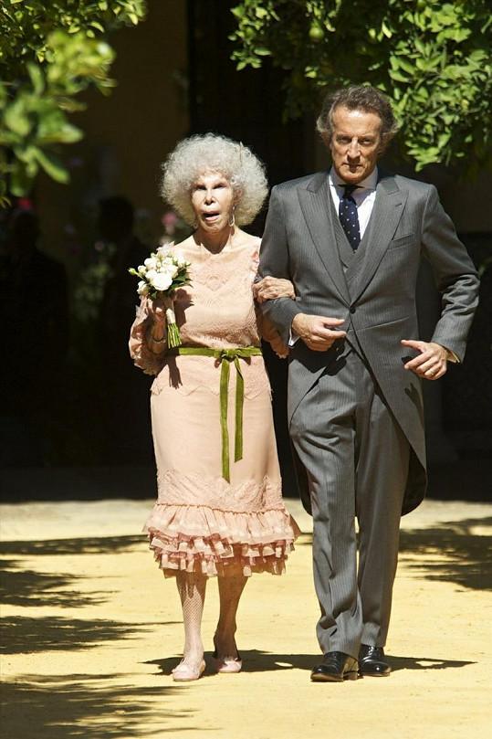 Vévodkyně s manželem Alfonsem Diezem.