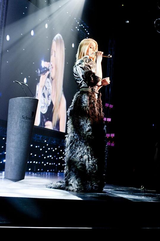 Během večera zazpívala Gabriela Gunčíková.