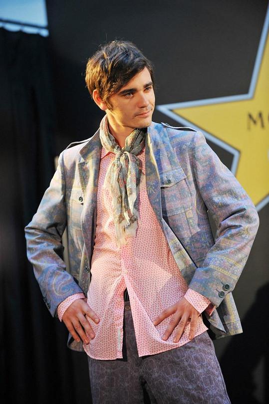Vojta Kotek jako model.