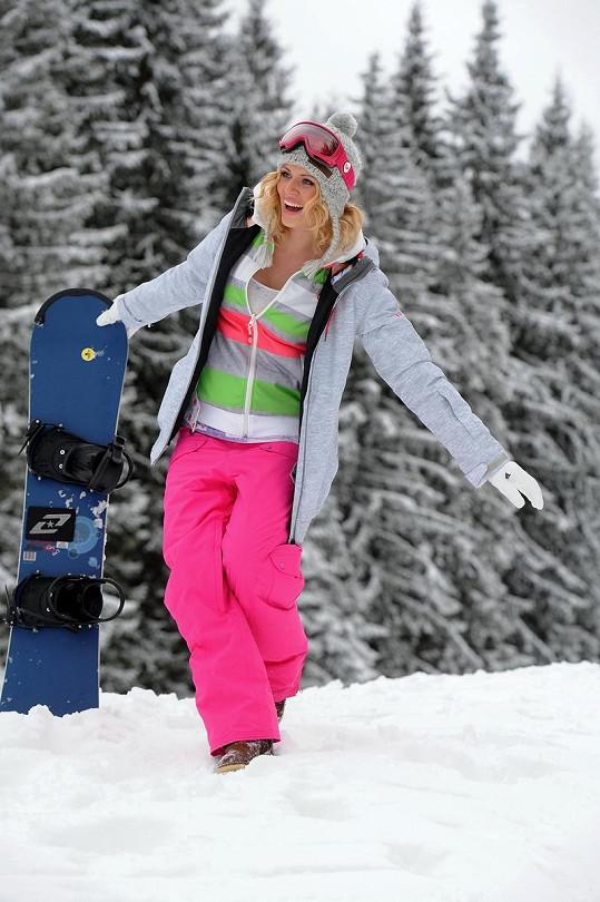 Nikol Moravcová si letos užila první sníh ve Špindlu.