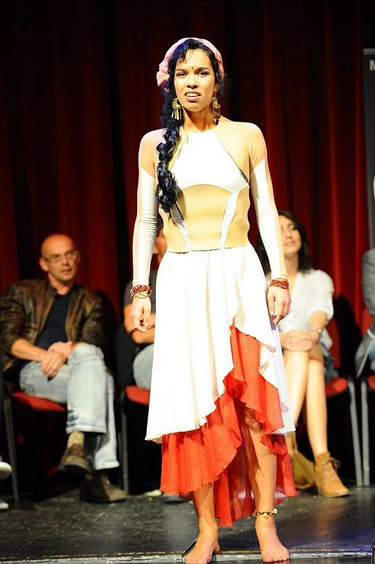 Radka Pavlovčinová v kostýmu z muzikálu Quasimodo.