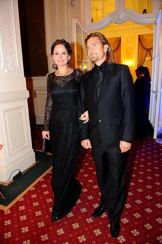 Jitka Čvančarová s přítelem Petrem Čadkem.
