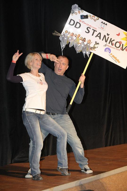 Kristina s Karlem Voříškem.