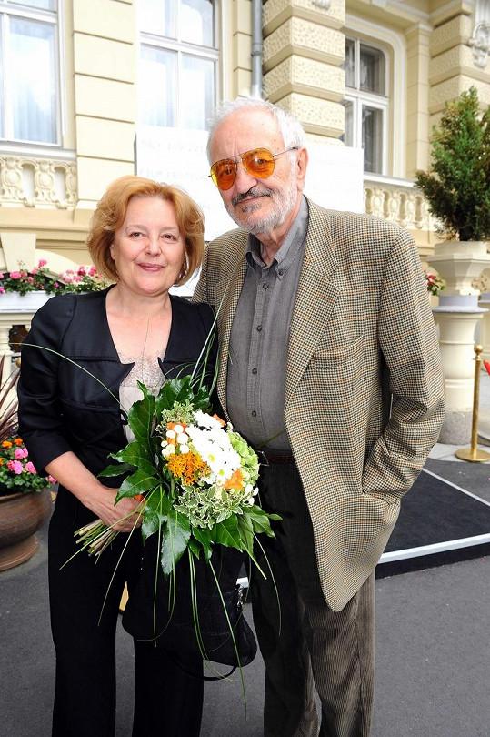 Magda Vášáryová s manželem Milanem Lasicou.
