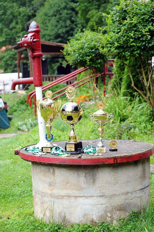 Ceny pro vítězné kapely.
