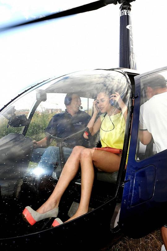 Ve vrtulníku ukázala Hana Svobodová více, než chtěla.