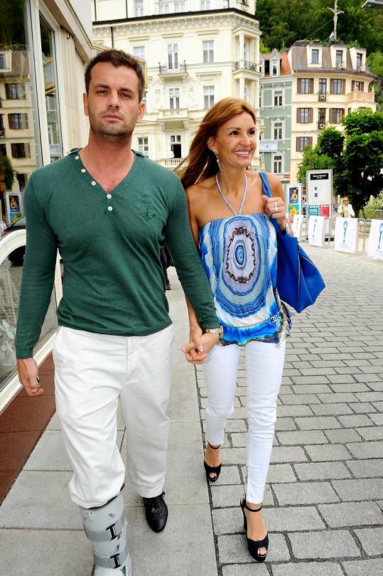 Tamara Bendlová Kotvalová s novým přítelem Romanem Hajabáčem.