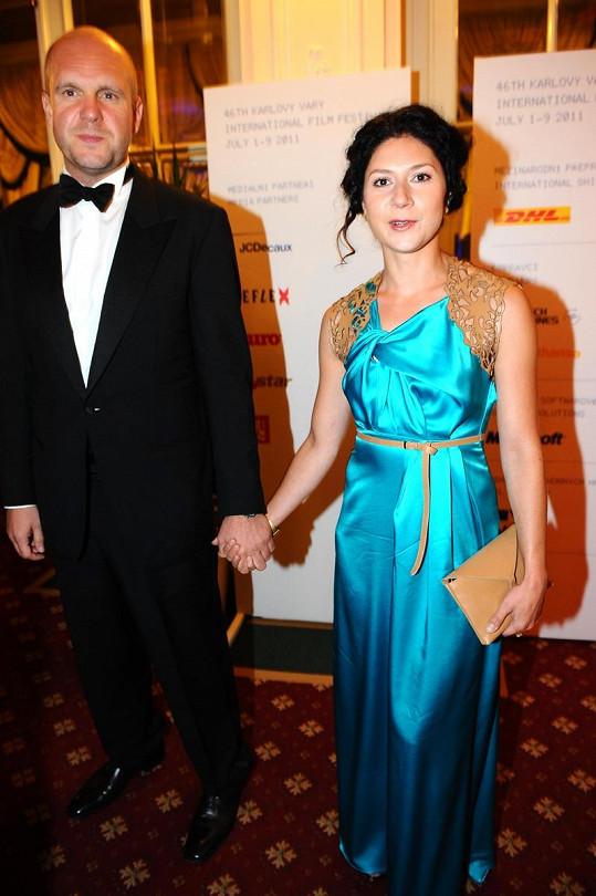 Martha Issová s přítelem Davidem Ondříčkem.