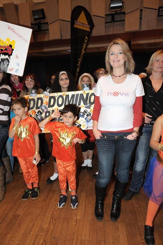 Herečka podporuje dětský domov Domino.