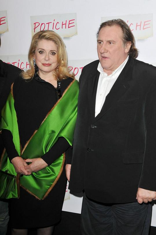 Gérard Depardieu a jeho pravděpodobná filmová manželka Catherine Deneuve.