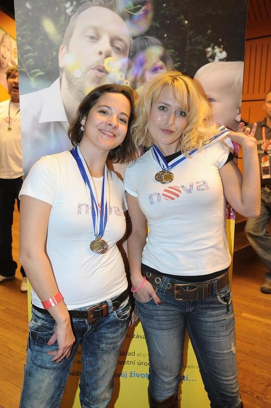 Kristýna s Miluší Bittnerovou.