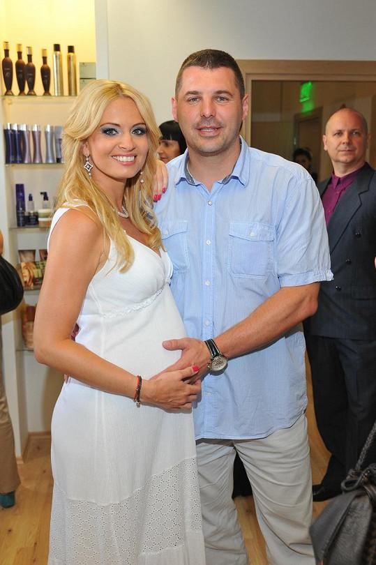 Marianna se svým partnerem Romanem Doležajem.