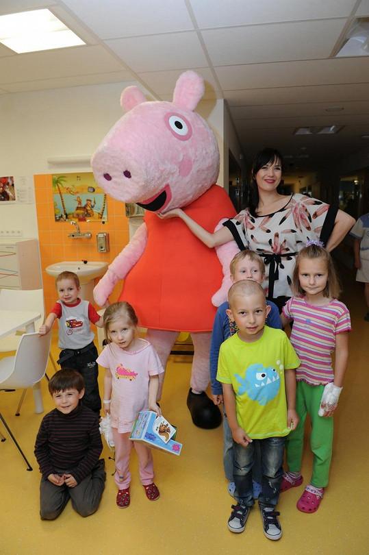 Tereza s dětmi a Peppou.