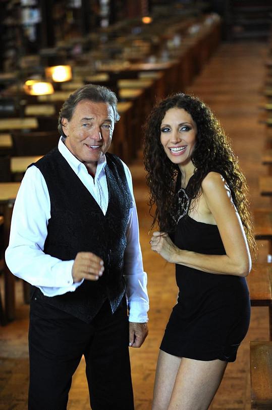 Olga a Karel natáčeli v Klementinu.