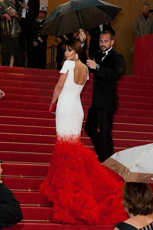 Během premiéry snímku Láska (Amour) se strhla průtrž mračen a zpěvačku tak museli chránit před deštěm deštníkem.