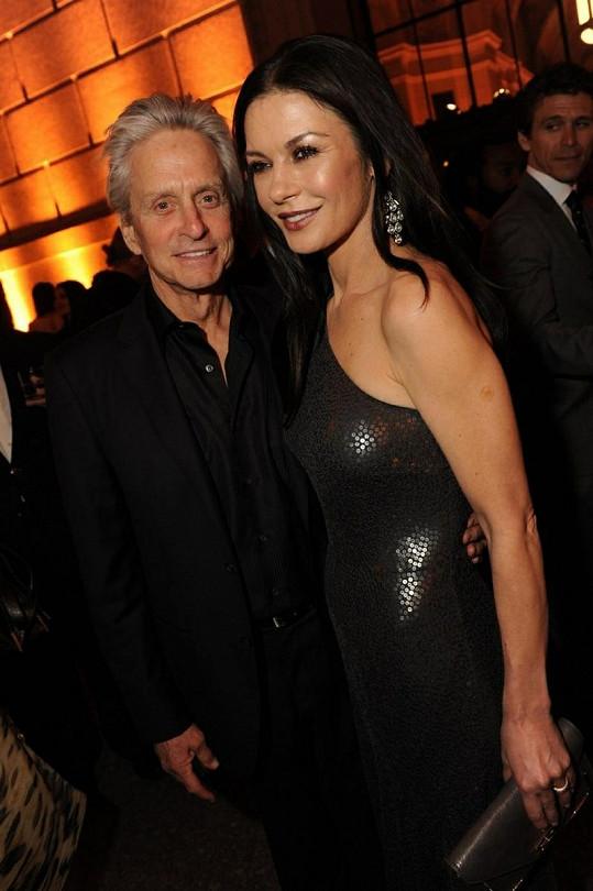 Michael Douglas a Catherine Zeta-Jones zářili štěstím.