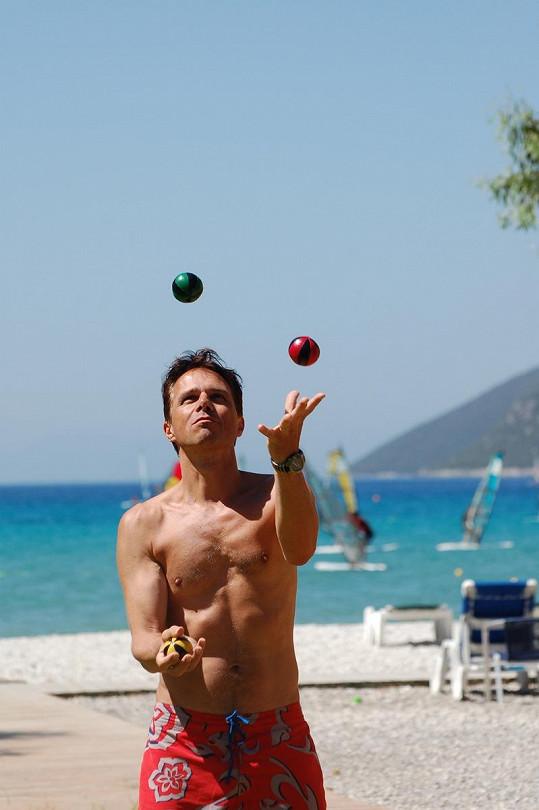 Janek Ledecký na ostrově Lefkada