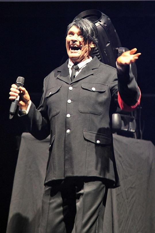 David Hasselhoff na vystoupení v Londýně.
