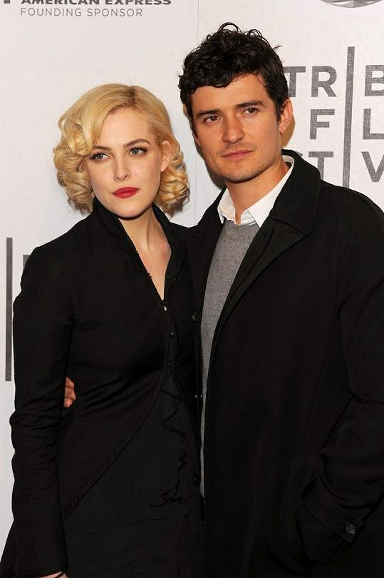 Riley Keough s Orlandem Bloomem na premiéře filmu The Good Doctor.
