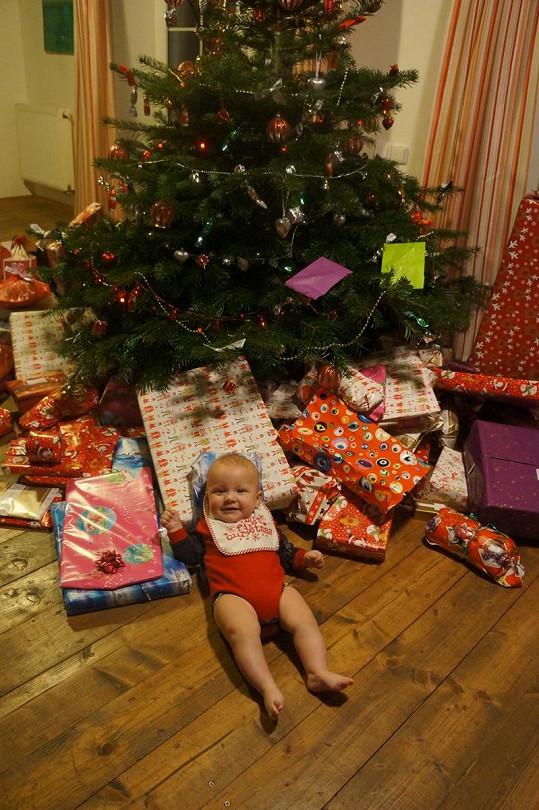 Největším letošním dárečkem Agáty je její syn.