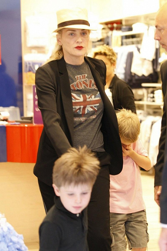 Sharon Stone se syny.