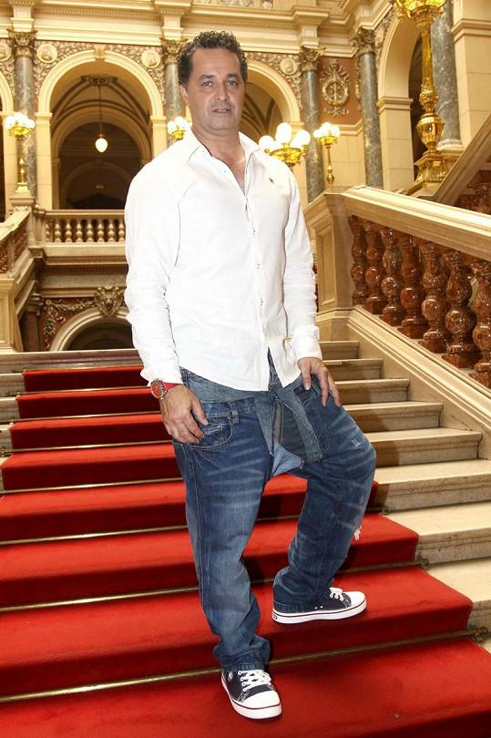 Martin Dejdar při zahájení posledního ročníku Talentu.