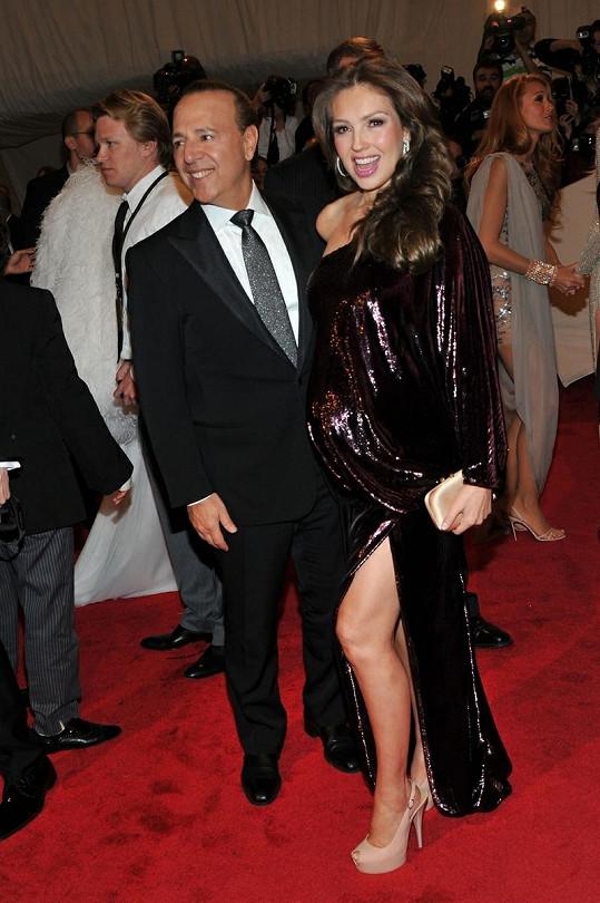 Thalía s manželem Tommym.