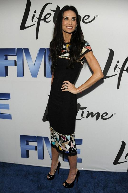 Demi Moore v poslední době hodně zhubla.