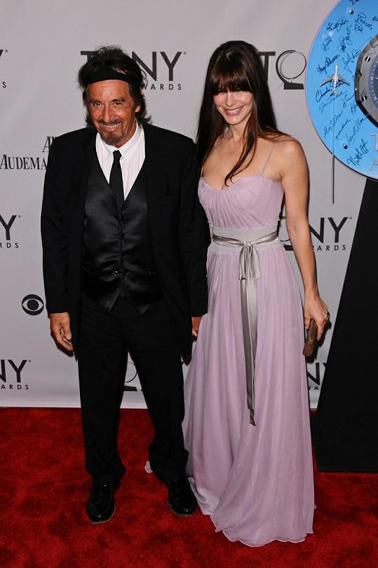 Al Pacino a Lucila Sola na předávání cen TONY.