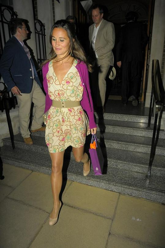 Půvabná Pippa Middleton.